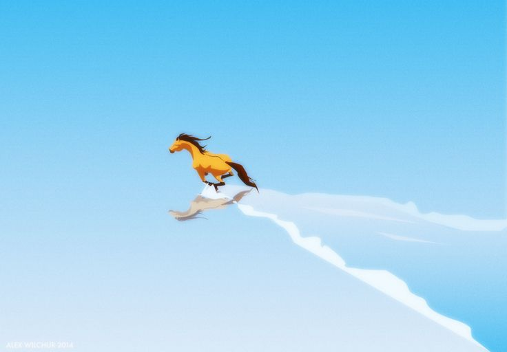 Spirit Stallion of The Cimarron fan art Soaring by Wilchur.deviantart.com on @DeviantArt