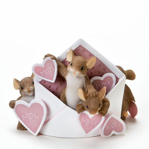 Charming Tales mouse figurines by artist Dean Griff. Great Mother's Day Gift or Birthday Gift for Mom $26.99