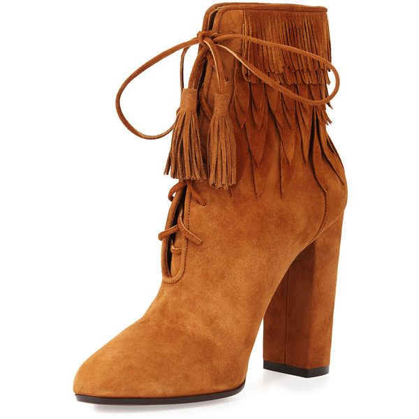 Fringe Booties Chunky High Heel Lace Up Ankle Booties Women Short Cowboy  Boots Western 2016 Designer