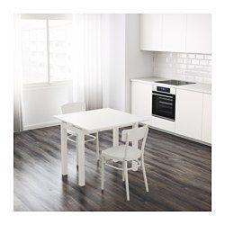 IKEA - BJURSTA, Uitschuifbare tafel, Incl. 2 uittrekbare bladen.Eettafel met 2 uittrekbladen; biedt plaats aan 1-2 personen en je kan de grootte van de tafel naar behoefte aanpassen.De uitschuifbare tafelbladen bieden praktische werkruimte en zijn goed toegankelijk onder het tafelblad opgeborgen.Het blank gelakte oppervlak is makkelijk af te nemen.Perfect te gebruiken als bijtafel tegen de wand.