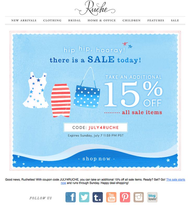 4th of july email greetings