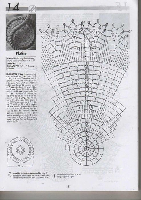 diagram for excellent doily - very easy to follow !