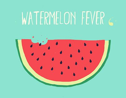 """Check out new work on my @Behance portfolio: """"WATERMELON FEVER // Sketchy"""" http://be.net/gallery/37964371/WATERMELON-FEVER-Sketchy"""