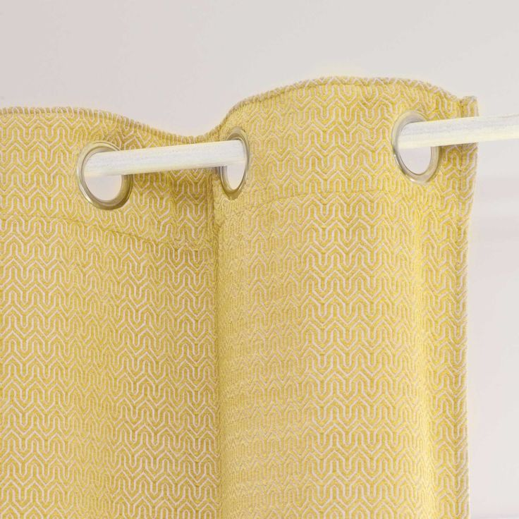 JOBS yellow eyelet curtain 140 x 250 cm | Maisons du Monde