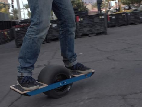 There were a bunch of skateboardy, scootery transportation gadgets at the show, but my favorite is the OneWheel, an odd-looking motorized and connected rolling balance board. It looks like the most fun to use and seems like it gives you a relatively passive workout -- the best kind! -- at the same time. The prototype  first appeared on Kickstarter a year ago and soon it will be ready to ship.