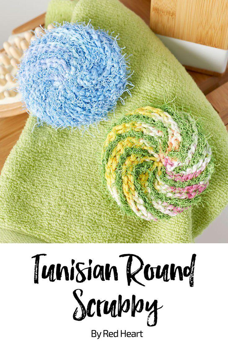 Tunisian Round Scrubby Free Crochet Pattern Creme De La Creme