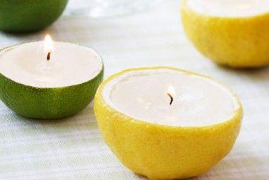 Candele fai da te dentro ai limoni. Profumate e semplici da realizzare