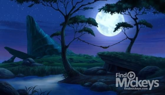 There is a Hidden Mickey in this scene of The Lion King 1½.