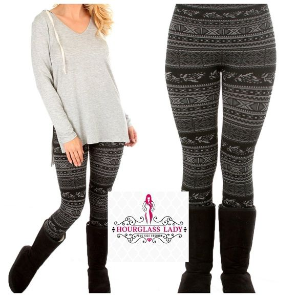 LAST M/LFleece lined Tribal Print Leggings Perfect for cold weather!! Fleece lined Tribal Printed Leggings Available in two sizes S/M & M/L This listing is for the M/L will fit sizes from 6 to 12/14 best.  92% polyester, 8% spandex   Price firm unless bundled Create a bundle for 15% off! Thanks for looking✌️❌NO PAYPAL❌NO TRADES❌ Hourglass Lady Pants Leggings