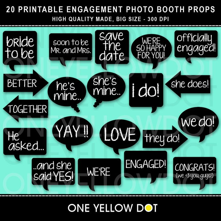 Photo Booth Props Printable