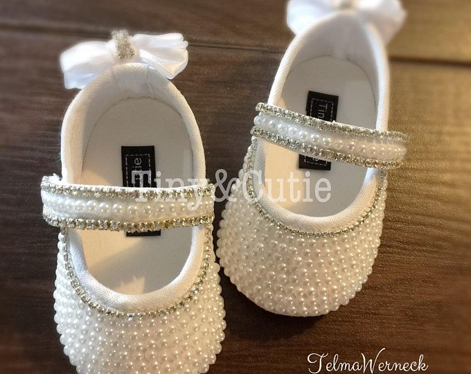 Baby Girls Ivory Shoes Christening Wedding Party Toddler Pram Shoes