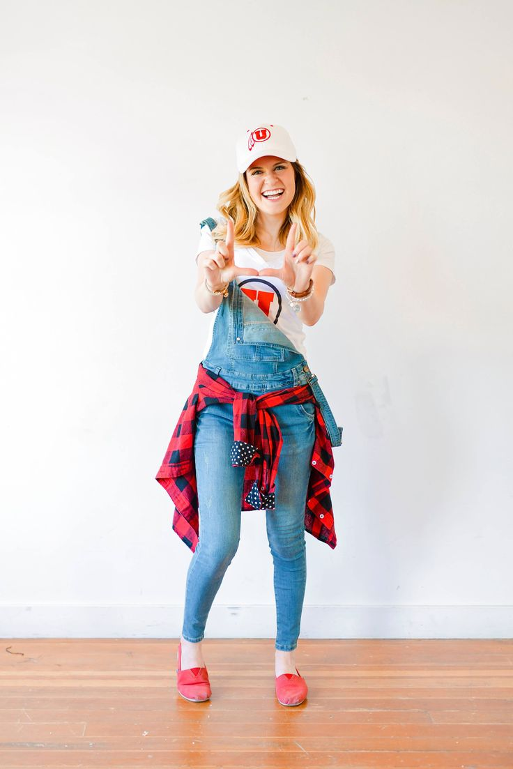 6 Stylish Ways To Wear Your Overalls overalls outfit, overalls women, overalls distressed, how to wear overalls, denim overalls, long overalls, cute overalls, fall overalls, winter overalls, 90s overalls, how to wear overalls, game day outfit, college game day outfit, game day outfit football, game day outfit high school, game day outfit basketball, game day outfit casual, game day style, game day fashion, utah utes outfit, utah utes style, utah utes football, game day outfit fall