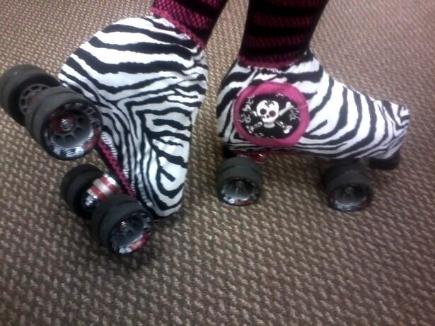 Roller Derby, Boot Panties, helmet panties, Custom, Zebra 2 pc set, Pick Your Colors. $19.99, via Etsy.