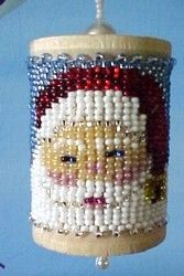 Printable+Free+Seed+Bead+Patterns | Home :: Christmas :: Christmas Spools :: Santa's Beard Spool :: Santa ...