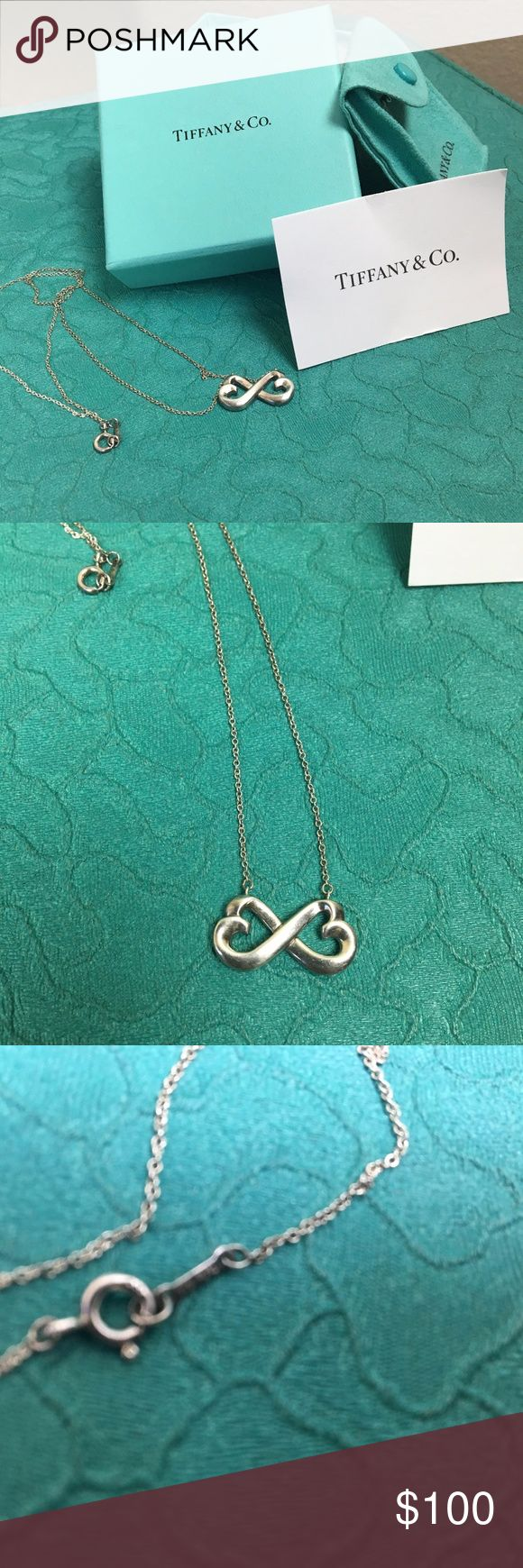 Tiffany and Co. infinity heart necklace Excellent Tiffany and Co. infinity heart necklace. Amazing condition, still comes with box, pouch, and care card. Tiffany & Co. Jewelry Necklaces