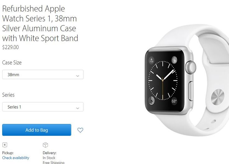 "Apple bietet in USA Apple Watch Series 1 & Series 2 als generalüberholte Modelle an - https://apfeleimer.de/2016/12/apple-bietet-in-usa-apple-watch-series-1-series-2-als-generalueberholte-modelle-an - Ab sofort bietet Apple sein Wearable Apple Watch Series 1 und Apple Watch Series 2 als refurbished Version im US-Apple-Online Shop an. Im deutschen Online Shop findet man unter der Rubrik ""generalüberholt"" noch keine Watch Modelle vor. Im US-Store können ab sofort ver"