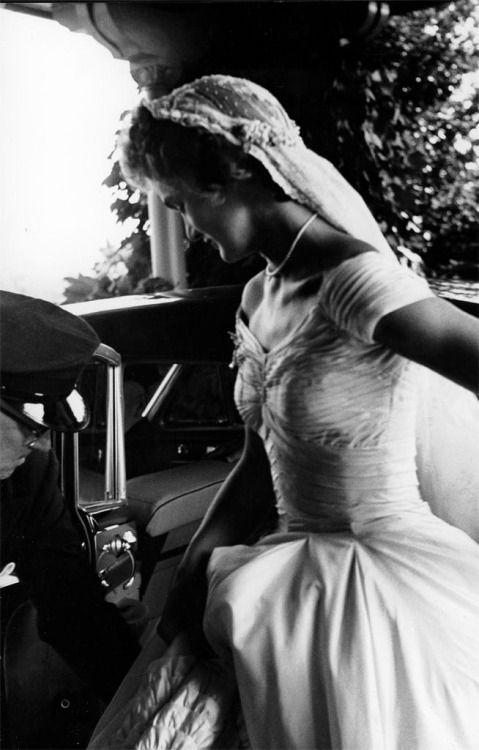 "operationbarbarossa: "" Jacqueline Kennedy on her wedding day - 12 September 1953 """