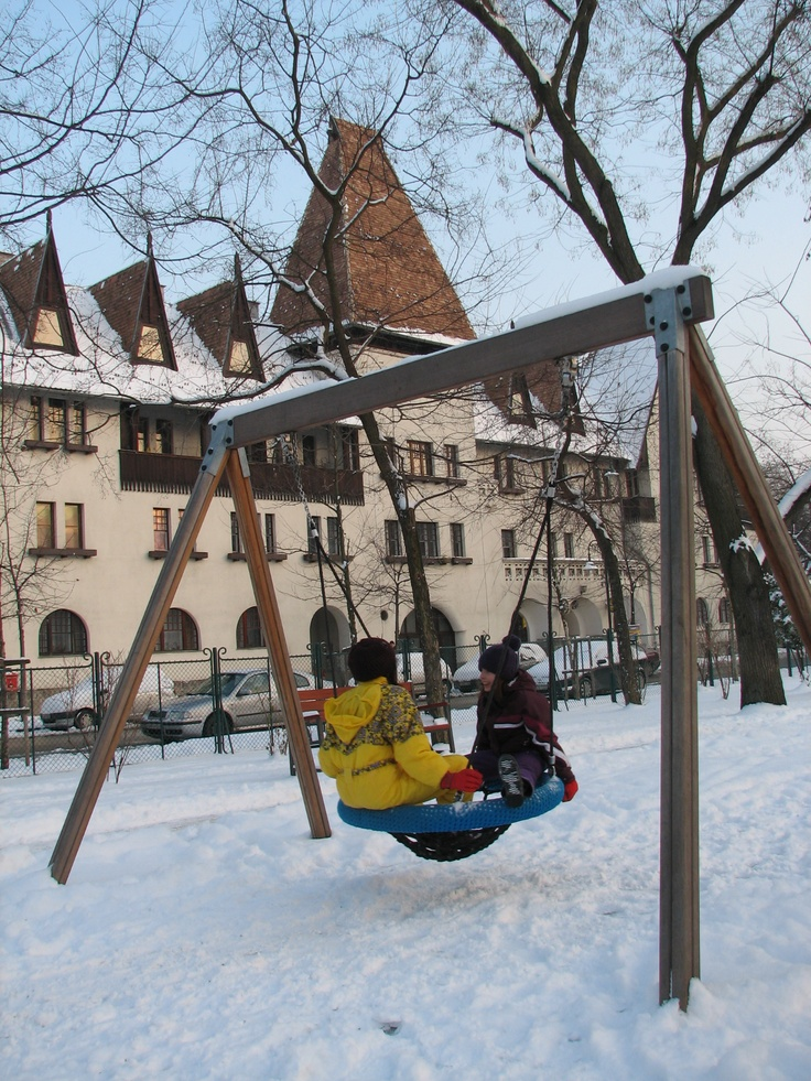Wekerle | Winter time, Kós Károly Square. http://budapestpocketguide.com/budapest-yours-to-discover/wekerle-estate-centennial-year-1908.html #Budapest