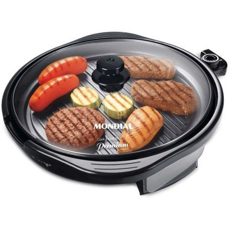 Mondial G13 Electric Skillet with Glass Lid and Temperature control feature Black *** For more information, visit image link.