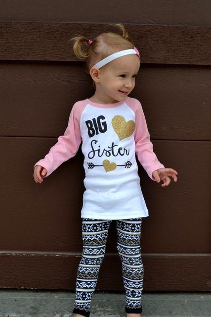 Big Sister Pregnancy Announcement Big Sister Shirt Baby