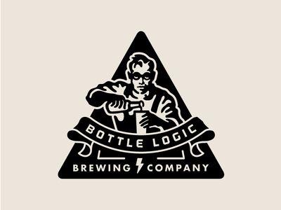 Bottle Logic Abandoned Logo Concept - Beer Scientist