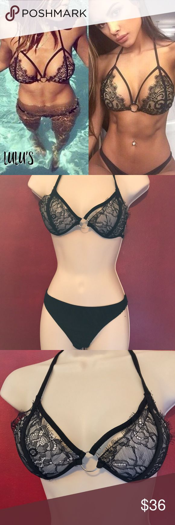 sexy hot bikini  Get ready for summer, sexy hot bakini, hot black lace, the top has underwires and is padded to give the  push-up appearance, the top ties around the back and around the neck for added comfort, this runs true to size, Ask any questions prior to purchase, see last photo for sizing Made of acrylic         ♥️offers welcome        ♥️fast shipping         no trades          non smoking               home Item #004 Swim Bikinis