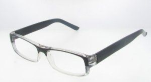 Glasses Frames With Thick Arms : T&R Gradient Black Rectangle Shape Clear Lens Glasses with ...