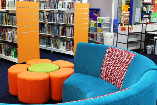 Stunning library seating