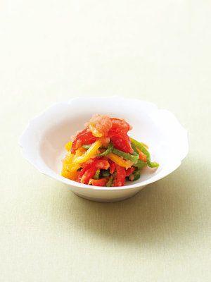 【ELLE a table】パプリカとピーマンの真砂和え【ビタミンC・E・B1で美白効果】レシピ|エル・オンライン