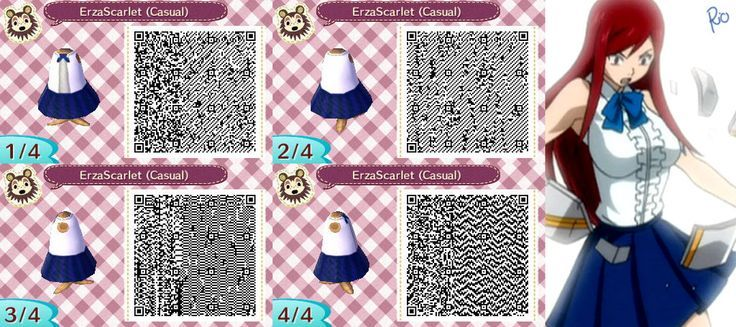 Fairy Tail, Erza, Animal Crossing QR Code | Animal ...