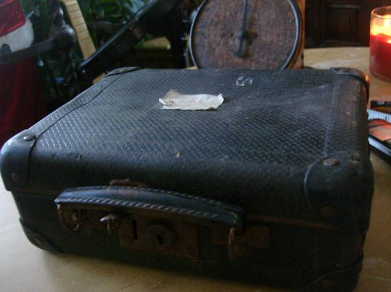 antique french small suitcase /childs suitcase or doll
