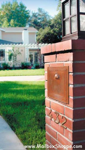 1000 Images About Brick Mailboxes On Pinterest