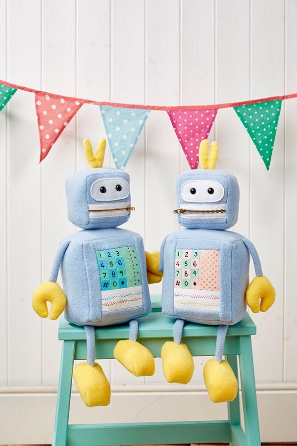 free softie tutorial - how to sew robot softies.