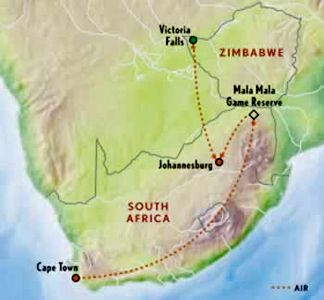 South Africa travel information on accommodations, services, itineraries and activities