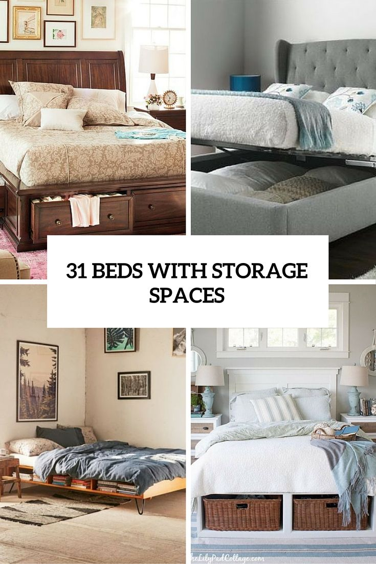31 Smart Storage Beds That Wonu0027t Spoil Your Interior Nice Design