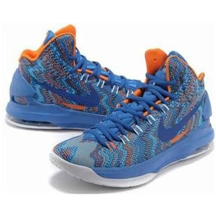 Nike Zoom KD V 5 Christmas Graphic Royal BlueWhiteOrange Womens Shoes
