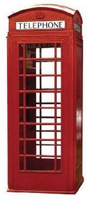 Telephone Booth - 50x100 - acrylic glass Countour - Wall Decor Countour Collection - print representing the shape of a traditional telephone booth.