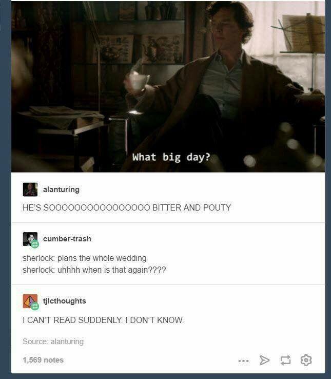 What big day?-Sherlock Holmes, Sherlock BBC, Season 3 Episode 2