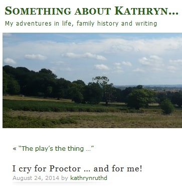 "An emotional blog review:  ""When it was all over and my heart was broken once again I cried. I cried for Proctor and I cried for his wife. I cried for the injustice of an innocent man being hanged for refusing to confess to a lie. I cried for the tears in Richard Armitage's eyes and the way his bottom lip wobbled as he took his applause, and I cried for me … because I knew I would never get to see it again.""    http://kathrynruthd.wordpress.com/2014/08/24/i-cry-for-proctor-and-for-me/"