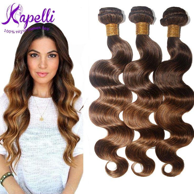 8A Regina Brasiliana Dei Capelli Del Virgin Dell'onda Del Corpo Ombre Hair Extensions 3 Bundles Tessuto Brasiliano Dei Capelli Bundles 4/30 Capelli Brasiliani Ombre