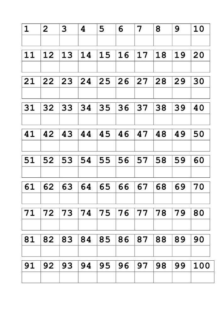 Writing Number Worksheets 1 100 Homeschool Pinterest Numbers