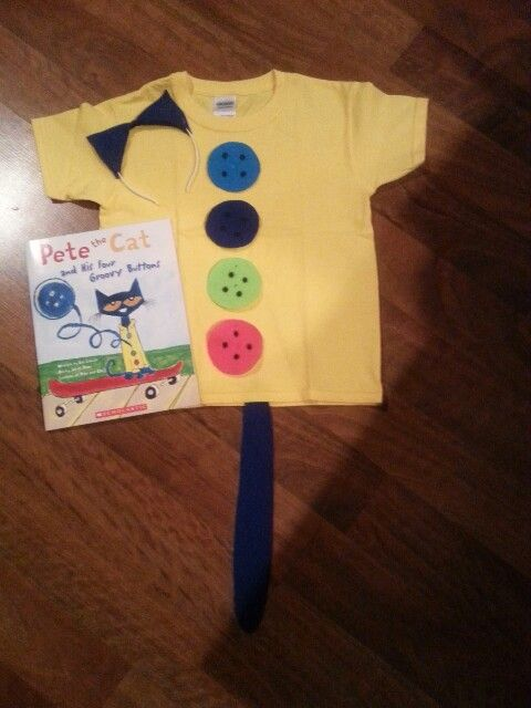 Pete the cat and his four groovy buttons....read across america costume