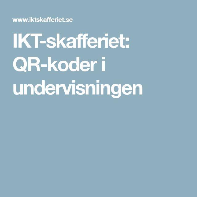 IKT-skafferiet: QR-koder i undervisningen