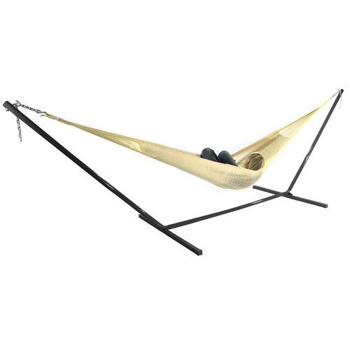Double Mayan Hammock and Stand Combo- Natural