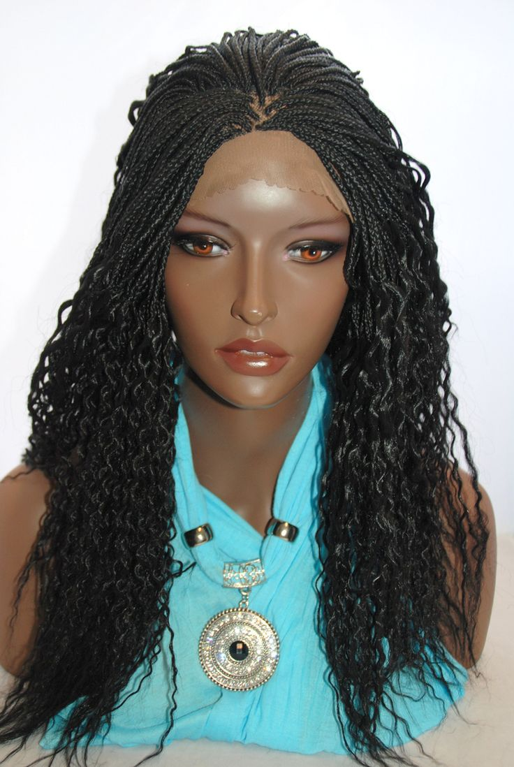 Hair Wig Weaving Braids Lace Front Wigs Human - Braided lace front wig micro braids color 1 http www camoaccessory