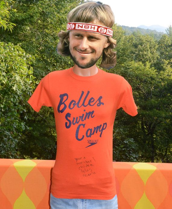 vintage 90s t-shirt BOLLES school swim camp boarding by skippyhaha