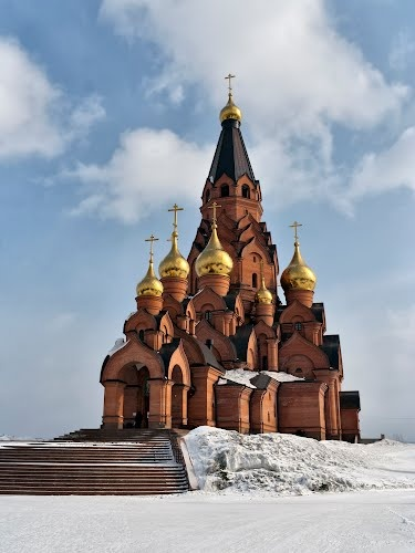 lesosibirsk cathedral, siberia, russia