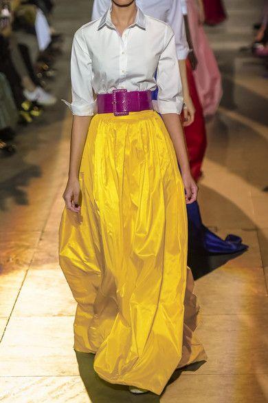 218403f319 Carolina Herrera | Belted pleated silk-satin maxi skirt | NET-A-PORTER.COM