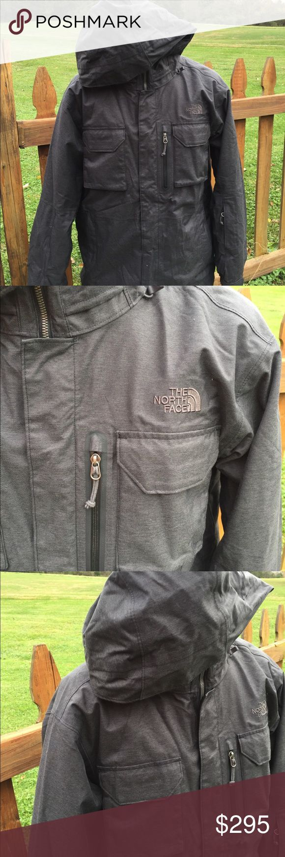 """The North Face Triclimate Mens Hyvent Jacket Coat Never worn. Size large. Dark heather grey in color. Super nice jacket. Measures: pit to pit: 22.5"""". Shoulder to shoulder: 20.5"""". No lowball offers please. Be sure to view the other items in our closet. We offer  women's, Mens and kids items in a variety of sizes. Bundle and save!! We love reasonable offers!! Thank you for viewing our item!! The North Face Jackets & Coats"""