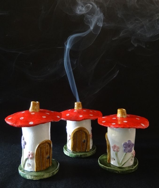 Toadstool, Mushroom Fairy House, Incense Cone burner | awen alive